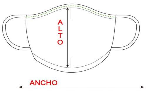 Guía de tallas tapabocas G4505
